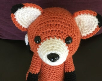 Amigurumi Fox/Crochet Fox/Fox Plush/Stuffed Fox/Red Fox Animal/Red Fox Plushie/Woodland Animal Plush/Forest Animal Plush. **Made to Order**