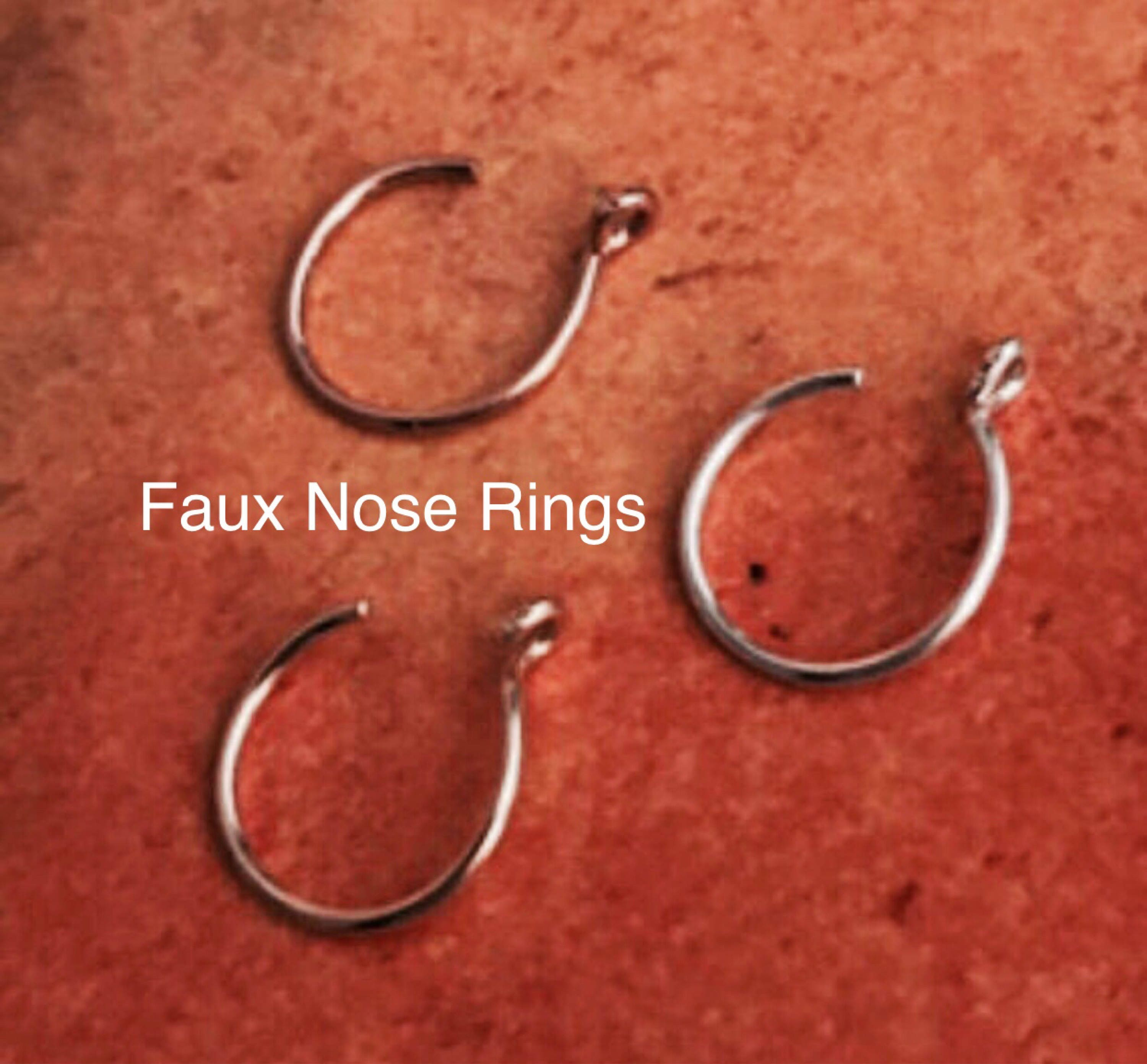 Faux Nose Ring Fake Nose Ring Personalized Place Gift for Man Custom