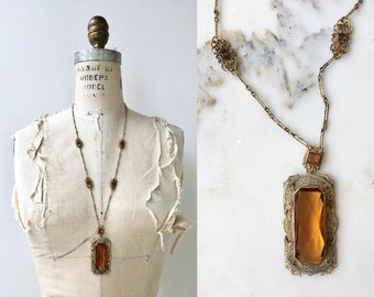 Léontine glass necklace | antique 1920s necklace | glass 20s necklace