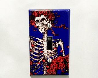 Grateful Dead Bertha Skeleton Roses Light Switch Plate Cover