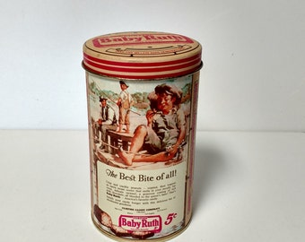 Baby Ruth Candy Bars Tin Can Collectible Storage Tin