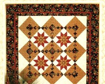 SALE Thimbleberries Star Flower Wall Throw Lap Quilt Pattern Christmas Holiday Lynette Jensen RARE!