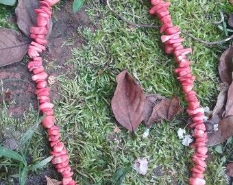 Pink Coral necklace genuine