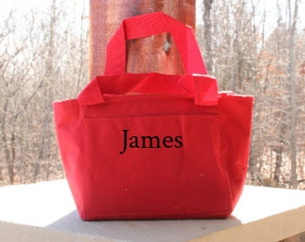 Personalized Lunch Bag Monogrammed Insulated Lunch Tote