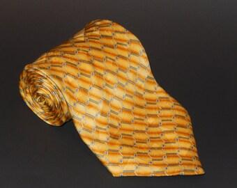Vintage AUQUABLUES Hand Made Silk Tie