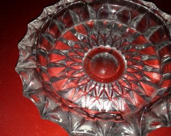 Post World War II to 1950's pressed glass ashtray