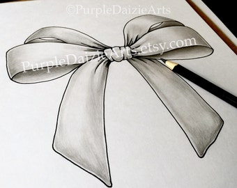 Downloadable Pretty Bow Printable Coloring Page Silk Bow Zen Doodle Tattoo Design Line Drawing ZenDoodle Template JPEG Instant Download