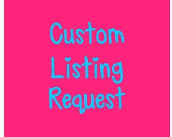 Custom Design Listing Request for a Digital Design