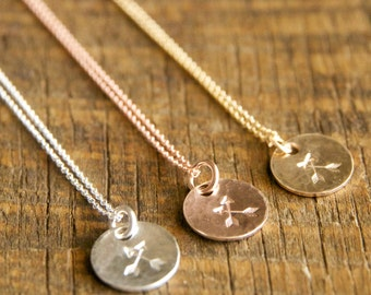 Crossed Arrow Friendship Necklaces-Dainty, Simple Friendship Necklaces Handmade by Bare and Me- Simple Minimalist Jewelry for Everyday