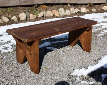 Grandpa Bench Bench Bank bench Kaminbank stove bench plank bench vintage solid wood walnut glazed country house handmade