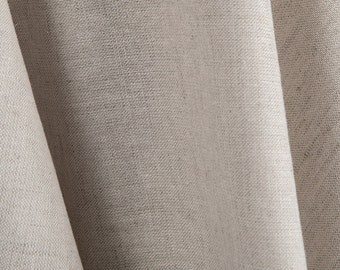 Linen-cotton light grey fabrics / wide linen-cotton fabrics by the half-metres