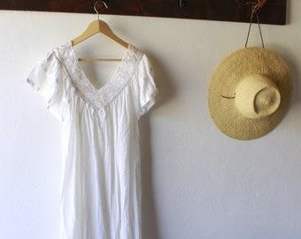 Vintage cotton mexican dress