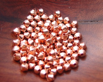 3 mm Copper Bicone Beads (100, 500, or 1000 pcs)