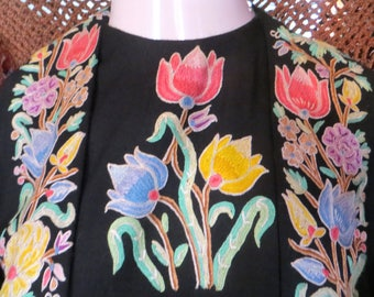 Fortnum&Mason Tambour Embroidered Pashmina Faux Coat Dress