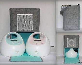 Half Size Ella style Spectra Breast pump bag in PP Jackson Lt Gray