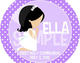 Personalized First Communion Girl Melamine Plate Gift