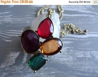 SALE Jewel Gold Necklace - Vintage Jewellery