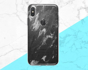 Black Marble iPhone Case iPhone Case 8 Clear Marble Case iPhone X Clear Case Marble Samsung S8 Case Clear Marble Galaxy S9 Plus Marble Case