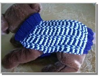 Knit Dog Sweater knitting pattern Special Rib design Downloadable PDF