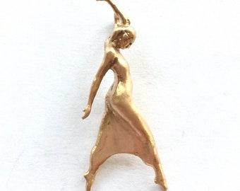 Clothed Dancer Pendant in 22k Gold