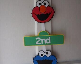 Sesame Street Door Sign