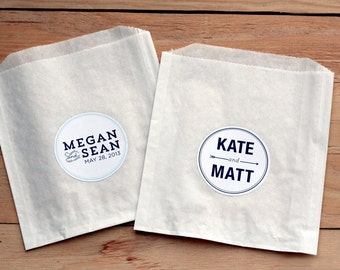 100 Personalized Wedding Labels / Favor Bags / Birthday Stickers / Paper Bags / Wedding Favor / Cookie Bags / Custom Stickers / Personalized