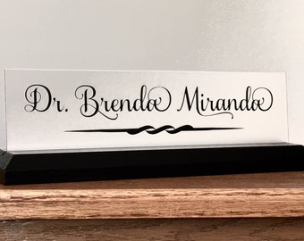 Medical field name plate, Physician, Nurse, Physician Assistant, Nurse Practitioner, Dentist nameplate