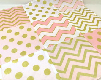 Baby Shower Gift, Lovey, 18 x 18 inches, Baby Girl Gift, Baby Blanket, Minky Baby Blanket, Baby Gift, Pink, Gold, Blush, Coral, Baby Girl