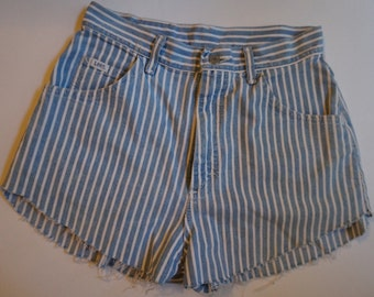 striped high waisted shorts size 26