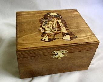 R2D2 Woodburned Box
