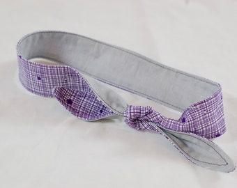 Purple and Gray 4-Way Adjustable Headband