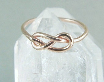 Promise Ring / 14k Solid Gold Infinity Ring / Solid Gold Knot Ring / Knot Ring / Best Friend Ring / Tie The Knot Ring / Gold Ring