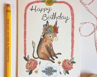 Birthday Burro Card