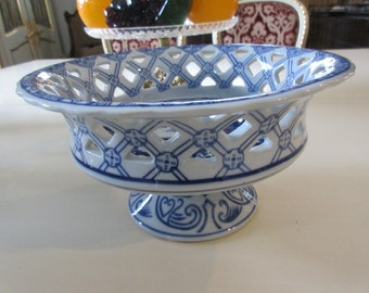 BLUE and WHITE COMPOTE with Hearts
