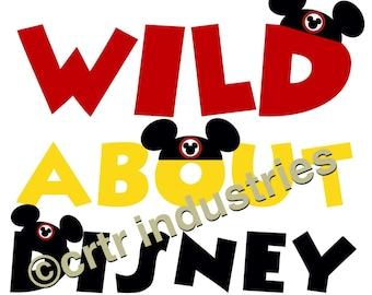 99c SALE! Wild About Disney / Iron On Image