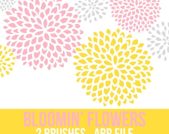 Bloomin' Flowers Photoshop Brushes - INSTANT DOWNLOAD