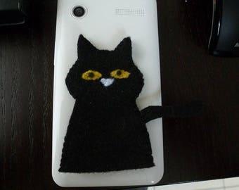 puppet has finger feutrinefelix halloween black cat