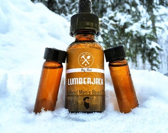 BIG RED: Lumberjack Refined Men's Beard Oils                                    Premium Handmade Beard Oil | All Natural | Vegan | 100% Pure