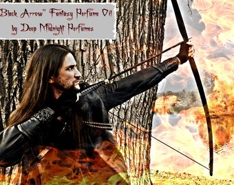 BLACK ARROW Perfume Oil: Fantasy perfume inspired by The HOBBIT, Deep resins, blackened honey, and smoldering dragonfire