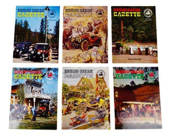 Horseless Carriage Gazette Magazines 1965 Full Year Antique Automobiles, Cars - Group of 6