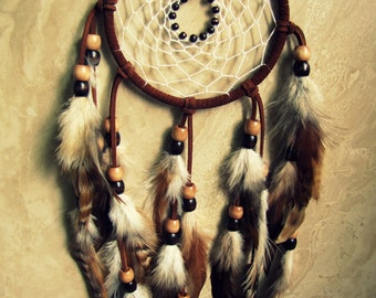 Dream Catcher - Large Brown Feather Dream Catcher - Dreamcatcher