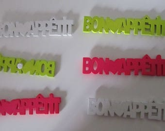 Set of 6 words - enjoy your meal - Artifetes - creative wooden ' decor