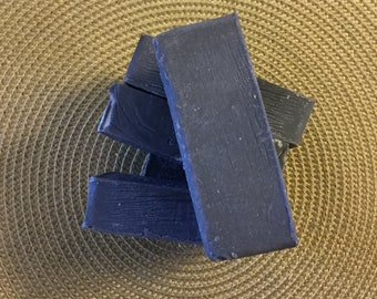 Handmade Activated Charcoal and Bentonite Clay Face and Body Soap with Lavender Essential Oil