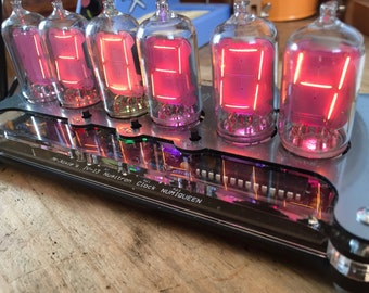 IV-13 Numitron Tube Clock very unique and beautiful  (Not Nixie Tube but Orange also :-)