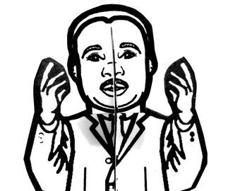 Martin Luther King Jr Paper Figure - Printable Activity