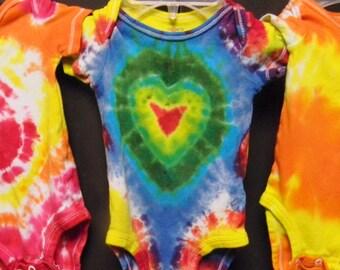 Infant 6month Three-Pack Short Sleeve Tie Dye