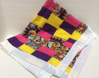 Clearance - Price Drop- Wonder Woman Baby Quilt