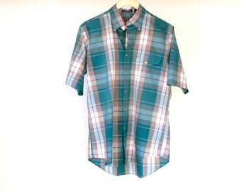 vintage fitted PLAID heritage 90s short sleeve button up shirt