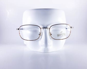 WINCHESTER Vintage Eyeglasses  by Magic Line Made in Italy Guide 50-19 448/L Unisex Metal NOS Deadstock - WINF458Y-1