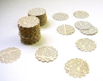 200 dictionnaire vintage découpes festonnée ronde découpes techniques mixtes